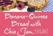 Bread / Banana and quinoa