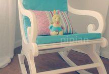 Cadeiras Baloiço / Um miminho para o quarto dos bebés e não só...