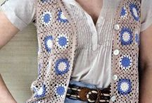 Crochet top's,vest,& jackets to wear / crocheting wearable's  / by Ollie Goss