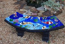 Mozaiek / Mozaïk, glas, porcelein, steen