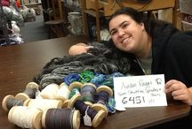 Team Shuttles, Spindles, and Skeins 2013 / Team Shuttles, Spindle, and Skeins spun 43,125.28 yards!