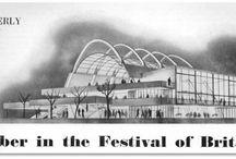 {Architecture} Wood retro futurism / Futuristic visions