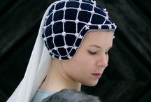 Medieval: Headdresses, How to cover your hair. / Coifs, snoods and veils