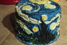 Van Gogh Inspired Food / Food creations inspired by artist Vincent van Gogh including Van Gogh cakes.