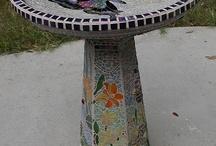 Mosaik birdbath