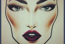 Makeup / Cartooned face
