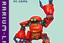 "Posters ""Terrarium-land"" / Game personages  from 3d indie game ""Terrarium-land""."