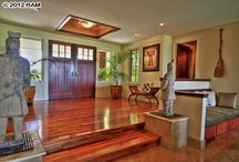 Hawaii Homes: Entryway / From dramatic to tropical flair. Here are some of our favorite entryways found in houses throughout Maui, Hawaii.