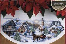 Boże Narodzenie - dywaniki pod choinkę