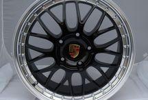 Jantes Alu style BBS Racing noires pour Porsche / Jantes Alu style BBS Racing noires pour Porsche