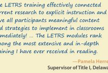 LETRS / From Washington to Rhode Island, schools across the U.S. are seeing gains in literacy achievement after state and districtwide implementations of LETRS #professionaldevelopment. Be part of the LETRS movement!