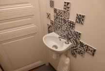 Apartment wall tiling