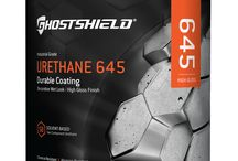 Urethane 645 - Ghostshield / A revolutionary, solvent based urethane coating designed to repel chemicals and abrasions available in a clear or colored high gloss finish