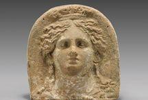 Ancient antefix / Greek antefix - Etruscan terracotta antefix - Roman antefix -  Gorgon antefix - Greek Medusa antefix