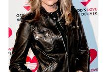Patti Hansen Strap Pocket Black Leather Jacket / Patti Hansen Strap Pocket Black Leather Jacket