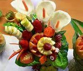 vyrezané ovocie a zelenina