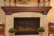 Mantels for fireplaces / by Kellie Hebert Knaffle