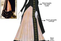 sketch of indian dress