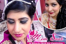 Memsaab Beauty Salon / Memsaab Beauty Salon provides services like all types of makeup, hairstyle, hair care, skin care, hair spa etc.