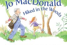 """Jo MacDonald Hiked in the Woods / Old MacDonald had a . . . woods? Yes! Come along with Jo MacDonald and learn about the wild creatures in the woods at her grandfather's farm. Noisy ones, quiet ones, and a few surprises. This delightful variation on """"Old MacDonald Had a Farm"""" playfully introduces youngsters to the woodland habitat while engaging little ones with rhythm and wordplay."""