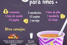 Comidas y bebidas para Niños