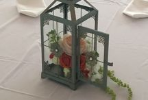 Love In Bloom Lanterns and Centerpieces / Floral and lantern combinations