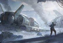 Sci fi illustrations
