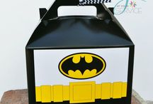 Batman and Batgirl Birthday Party Ideas / Batman and Batgirl favor boxes. Don't forget Robin, the boy wonder favor boxes as well. https://www.etsy.com/shop/Jatyourservice