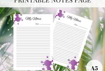 Printable Planner Pages by Cottontail Design / Printable planner pages Downloadable planner inserts Goal Tracking Sheets Habit Tracking Sheets Printable Checklists