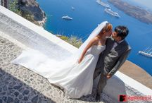 Chinese Weddings abroad / David & LIsa, from Shanghai -China - Hired us for a faboulous wedding in Santorini