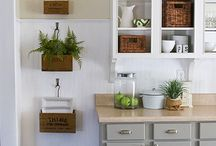 Kitchen White Tan Grey