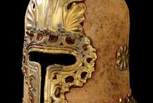 Barbuta helmets (Only historically accurate) / Late Mediæval (1301 – 1492) European helmets of the type barbuta / barbute. Closely related to, and often confused with sallet type helmet.