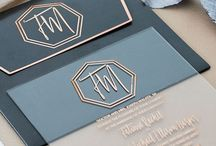 Acrylic wedding invitations and accessories