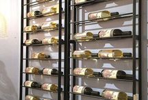 wine rack divider wall