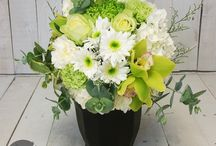 Our Floral Menu | POTTED ARRANGEMENTS / Our collection of potted arrangements. These floral posies come perfectly nestled in a quaity ceramic pot, filled with water. These are an easy care, fresh floral gift
