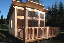 Tiny Houses and Tree Houses / I am fascinated by tiny houses! Don't know that I could live in one (with husband, two small kids and cat!), but love the idea of having one as an artist studio.