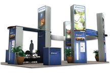 """Delta Matrix Trade Show Display / Delta Matrix impresses through color, size, shape and textures. Its custom architecture changes easily with your message.  """"""""Your image is everything … now create and be seen!"""""""""""