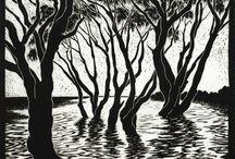 Linolcut / Woodcut