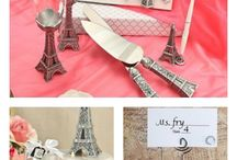 'I Love  Paris' Wedding Accessories for YOU! / What a Beautiful Wedding Theme of 'I Love Paris' - treat your guests to a Romantic Parisian celebration they will never forget with these stunning accessories and favors.