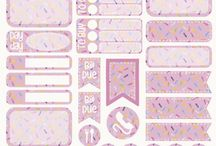 Planner stickers and ideas