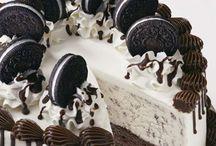 Ice cream cakes.