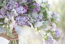 Inspiration in blue and purple / Wedding flowers and other elegant flower compositions.