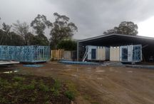 Factory Built Amenities Block for Echuca Holiday Park / This is a recent set of five buildings making up a set of ablution blocks and an activity room at the Echuca Holiday park.