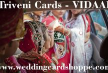 TRIVENI CARDS - VIDAAI / TRIVENI CARDS - VIDAAI  http://www.weddingcardshoppe.com/ViewLargeCard.asp?CardCode=5101  In Hindi the word bidaai means farewell. It is also the name of a wedding ritual which marks the departure of the bride from her parental home. The theme of the show explores the connotations of this word. The show's title invokes the poignant emotions of a bride's father or guardian (baabul) when his beloved daughter or ward gets married and departs for her husband's house