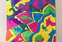 Zen doodling/mandala doodles / Mandala doodling Zen doodle Art therapy