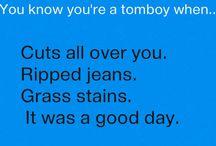 being a tomboy