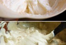 Cremas y rellenos tortas
