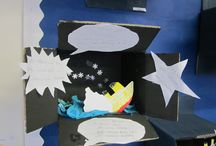 Titanic Dramas in Dioramas / Year 2 recreate the sinking of the Titanic for the mini mobile theatre