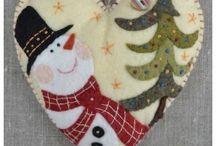 Hóemberek wintwr snowman