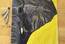 pastel oil crayon